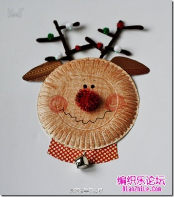 navidad manualidad con platos (10)