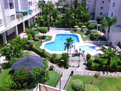 Jardín y piscina - Piso en alquiler en Teatinos, Málaga - Universidad