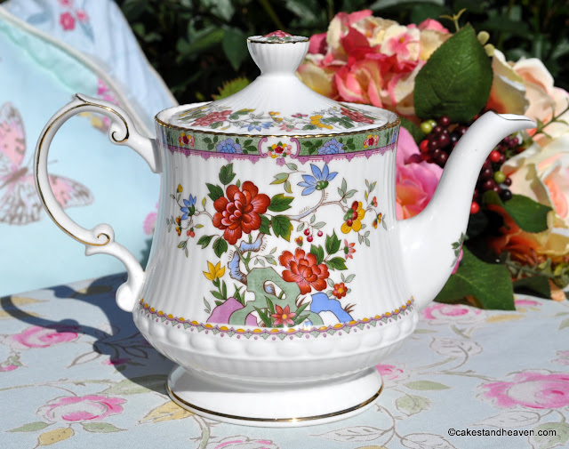 Queen's Rosina China Flower of Amaron Large Teapot
