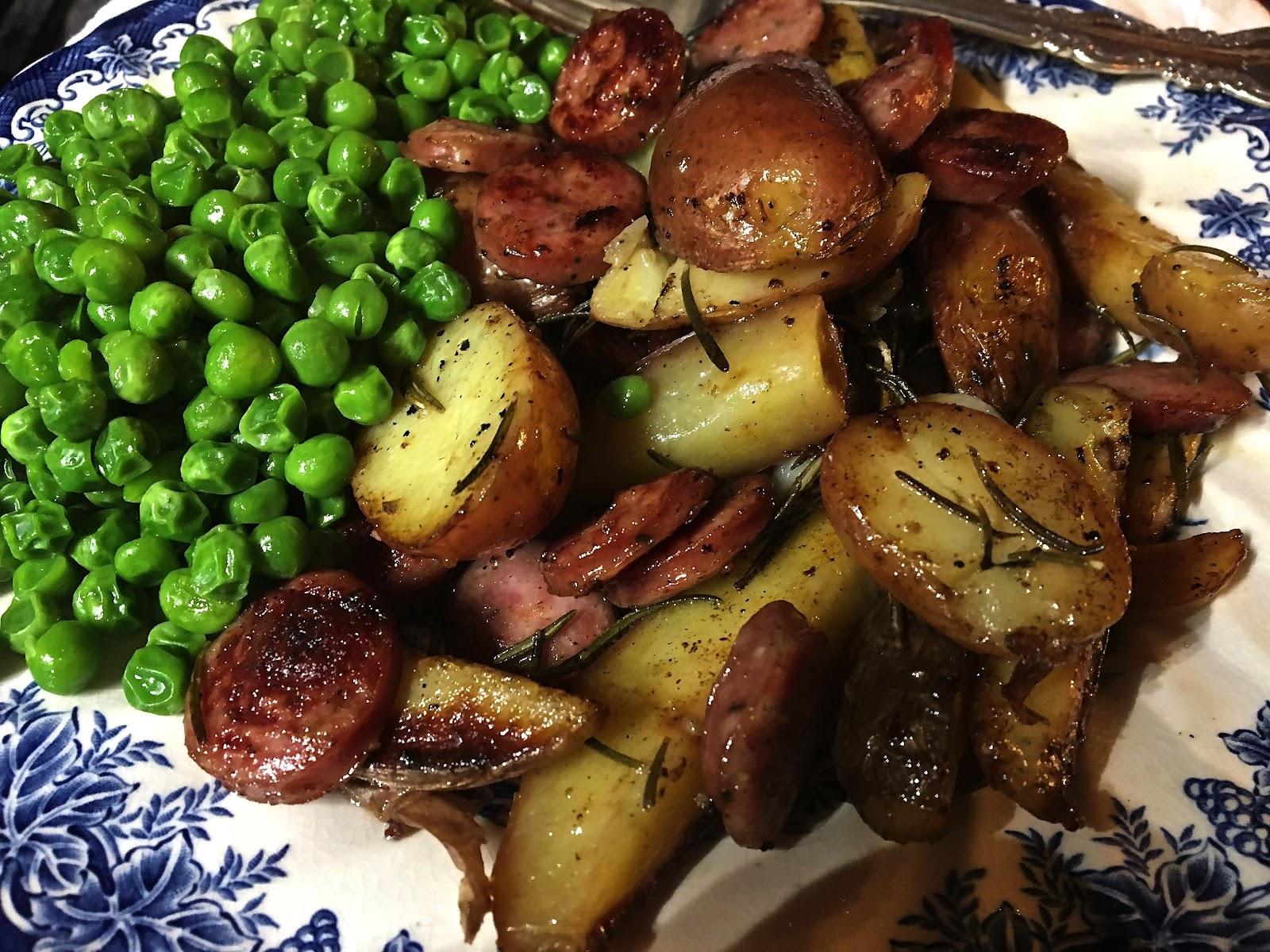 Potatoes and rosemary