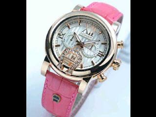 jam tangan Aigner romawi ring polos  pink