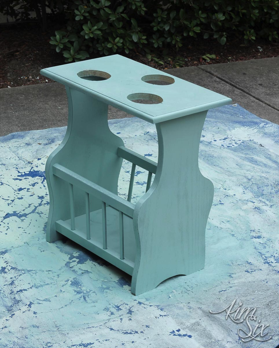 Painted repurpopsed magazine stand