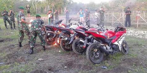 Motor Selundupan Dibakar Di Perbatasan Timor Leste