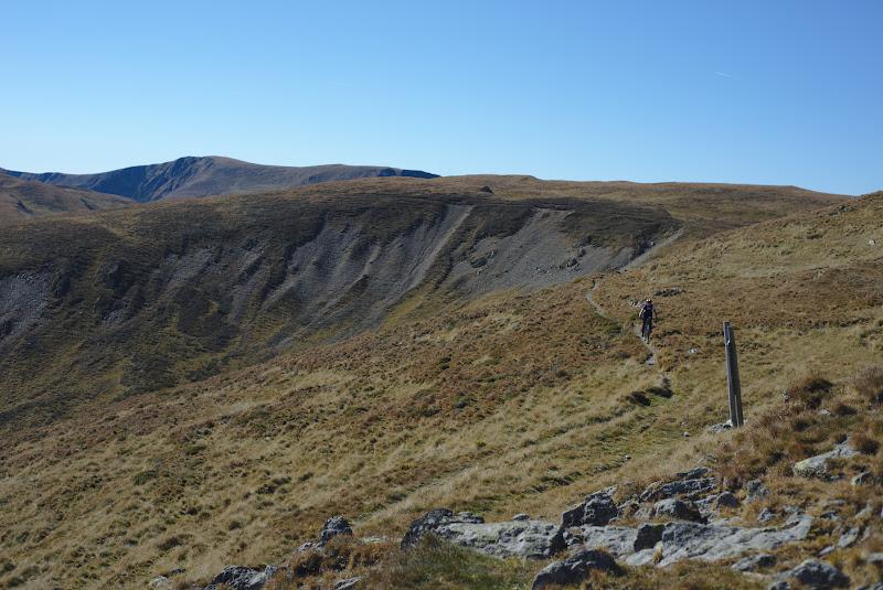 Single trail-uri inguste ce ne pun la provocare pe drumul spre Berevoescu.