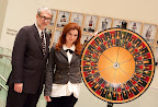 Creators of roulette chess, curator and artist Larry List and Jennifer Shahade, Photo Betsy Dynako