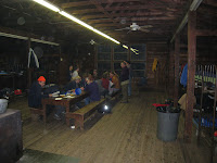 Scouts out in the woods so cabin empty