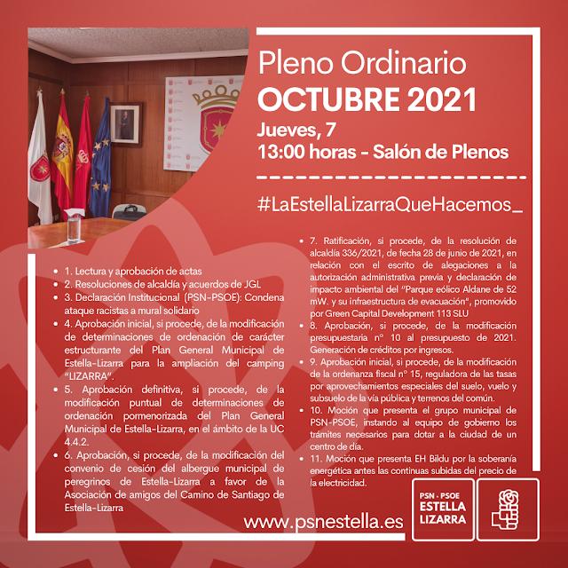 Pleno ordinario Octubre 2021