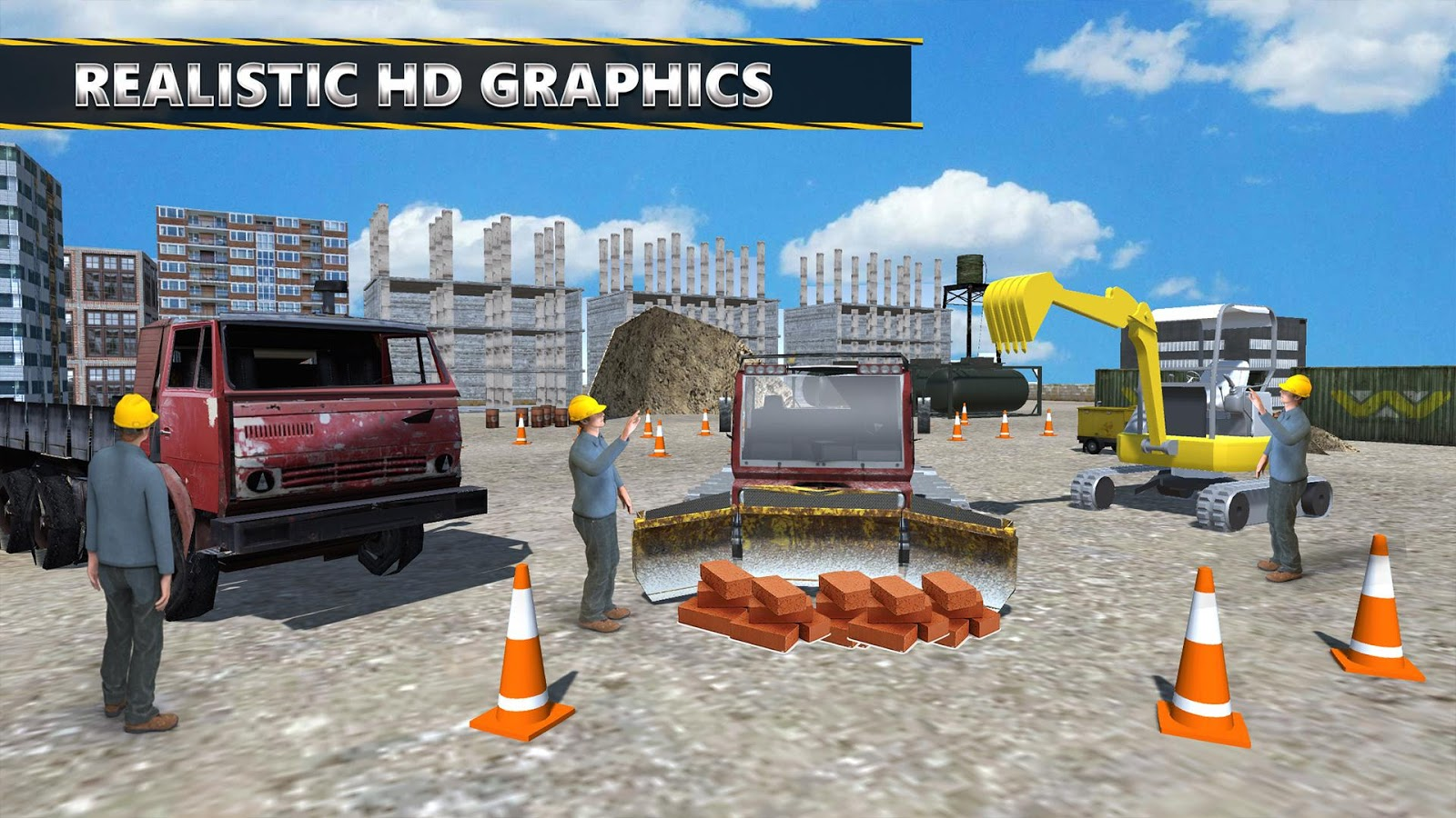 Heavy Duty Construction : Excavator crane heavy duty construction simulator