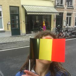 Koning en koningin in Brugge