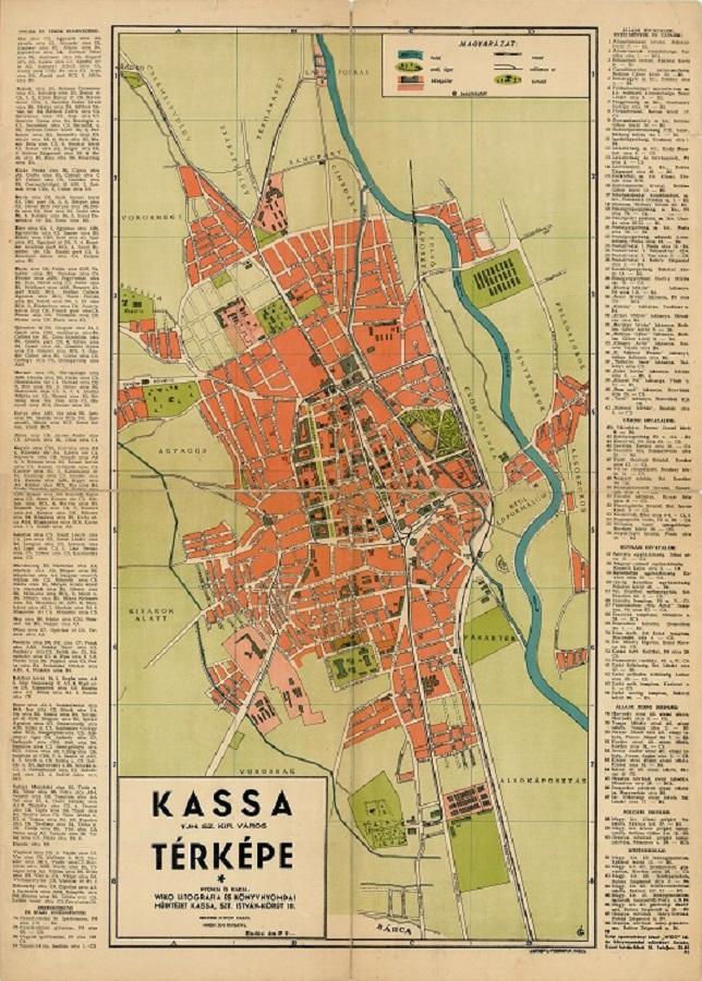 kassa térkép Kassa térképeinek üzenete | Felvidék.ma kassa térkép