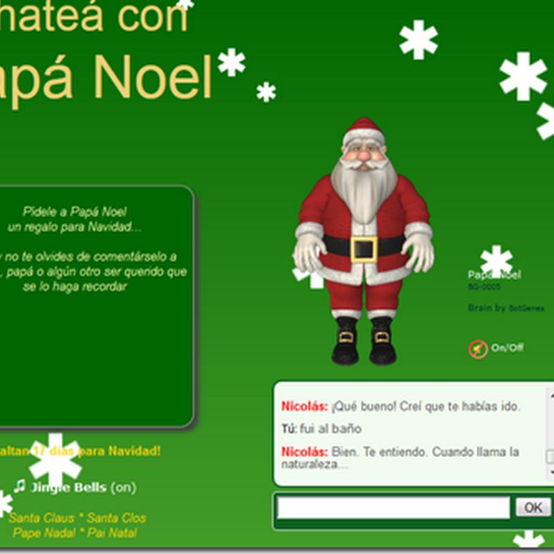 Papá Noel tien un chat para chatear gratis