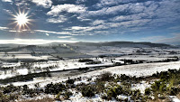 The Coquet Valley on a stunning Winter day
