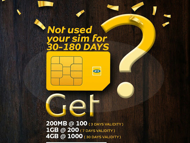 MTN 1GB for 200 Naira, MTN 1000 Naira for 4GB