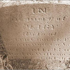 In memory of Mary wife of Joseph Crockett born in Wyth Co, Va. Oct 23, 1792 and died in Williamson Co 1863?