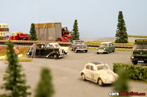 Mini, Bettle and other cars in train set