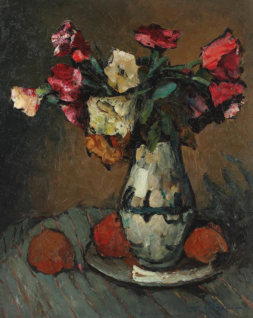 Gheorghe Petrașcu - Natură statică cu mere și flori
