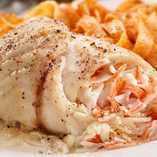 Baked Stuffed Flounder With Crabmeat.