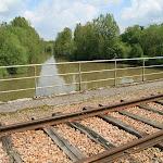 Le Loing : pont de voie ferrée