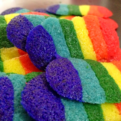 Rainbow Cookies by Shea