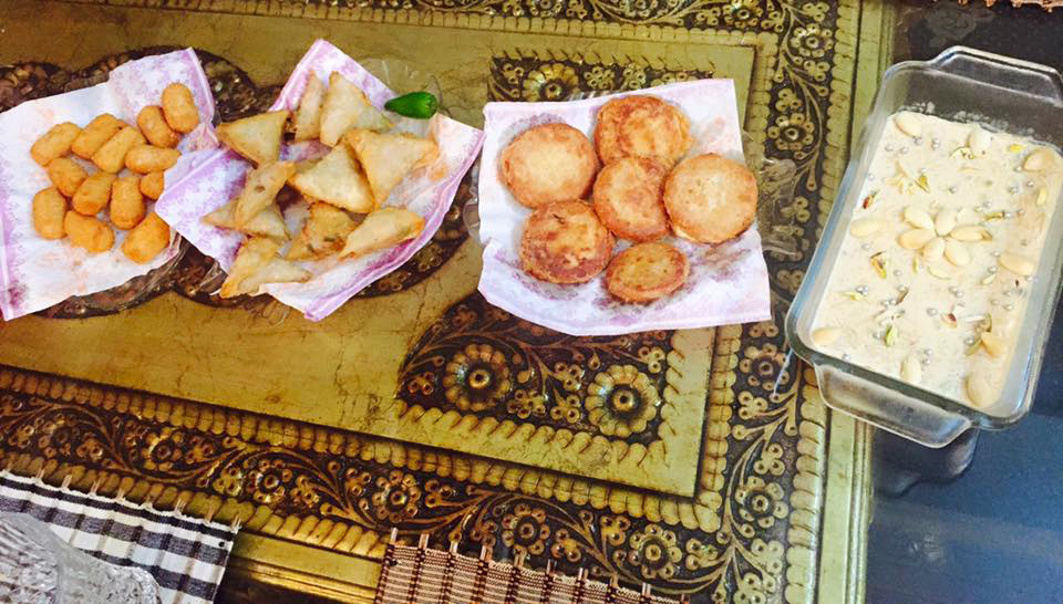 Special Eid breakfast, Nuggets, Samoosas, Kabaabs & Savaiyan.