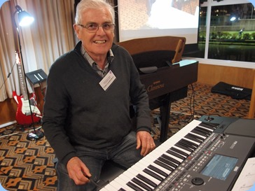 Peter Longbottom played his Korg Pa600 for us. Photo courtesy of Dennis Lyons.