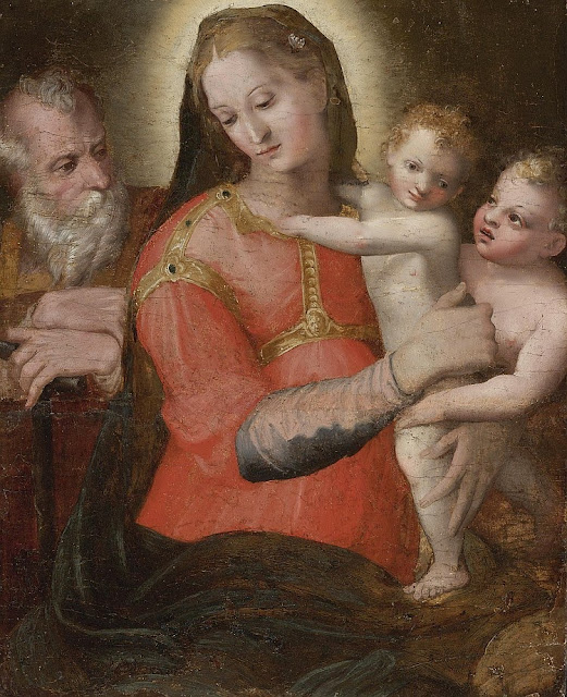 Pellegrino Tibaldi - Madonna and Child with St John