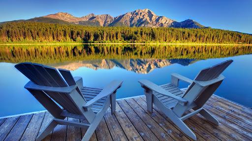 Best Seat In The House, Patricia Lake, Jasper National Park, Alberta.jpg