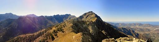 La crête de Cima di Casellu vers le Monte Grossu