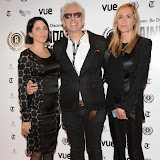 WWW.ENTSIMAGES.COM -   Sadie Frost, Elliot Grove and Emma Comley   arriving at      The 22nd Raindance Film Festival (I Origins) at  Vue Piccadilly, London September 24th 2014Opening gala for annual London-based independent film festival to promote film about two biologists who uncover evidence that may fundamentally change society as we know it.                                                 Photo Mobis Photos/OIC 0203 174 1069