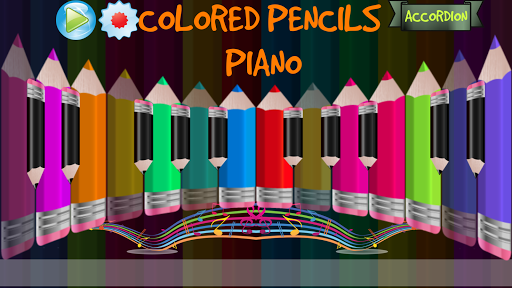 Colored Pencils Piano