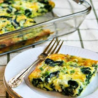 Spinach and Mozzarella Egg Bake.
