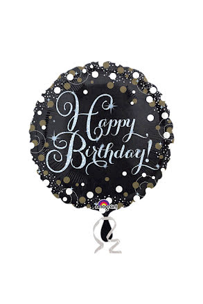 Folieballong, sparkling birthday