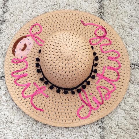 DIY Donut Sequin Beach Hat 65640d69915