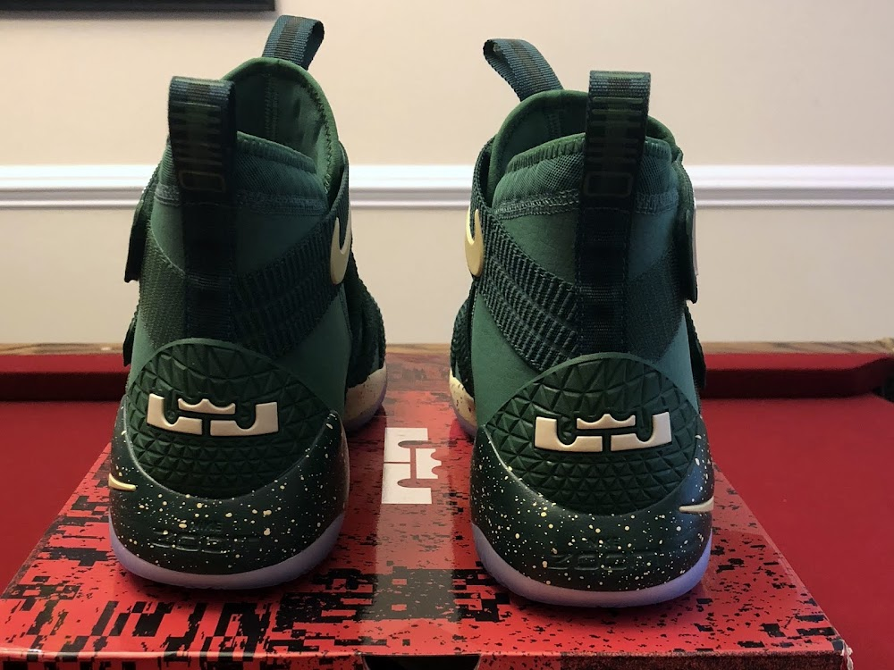 super popular abcf0 2a64a ... Nike LeBron Soldier 11 St Vincent St Mary PE Green ...