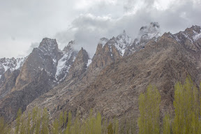 High snow capped mountains, Hunza Valley