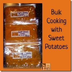 Bulk Cooking Sweet Potatoes