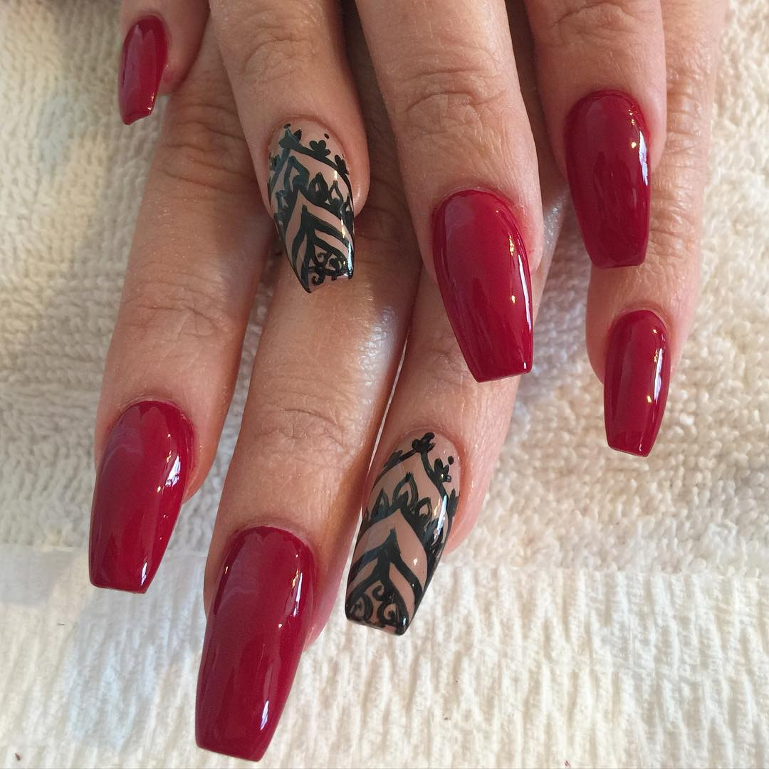 25+ Amazing Red Gel Nail Art Designs For Valentine's Day For 2018 - 25+ Amazing Red Gel Nail Art Designs For Valentine's Day For 2018