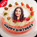 Name Photo On Birthday Cake - Birthday Photo Frame icon
