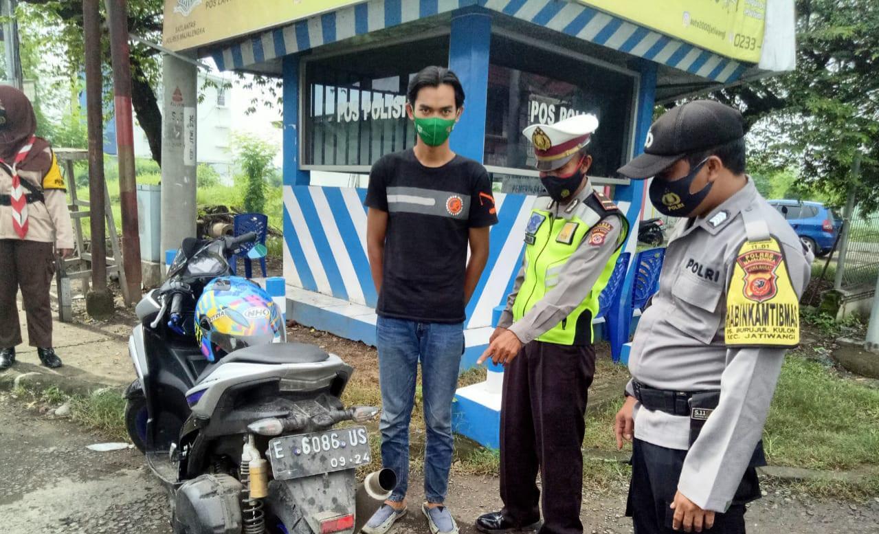 Ciptakan Harkamtibmas Kondusif,  Polres Majalengka Polda Jabar Lakukan Penertiban Knalpot Bising