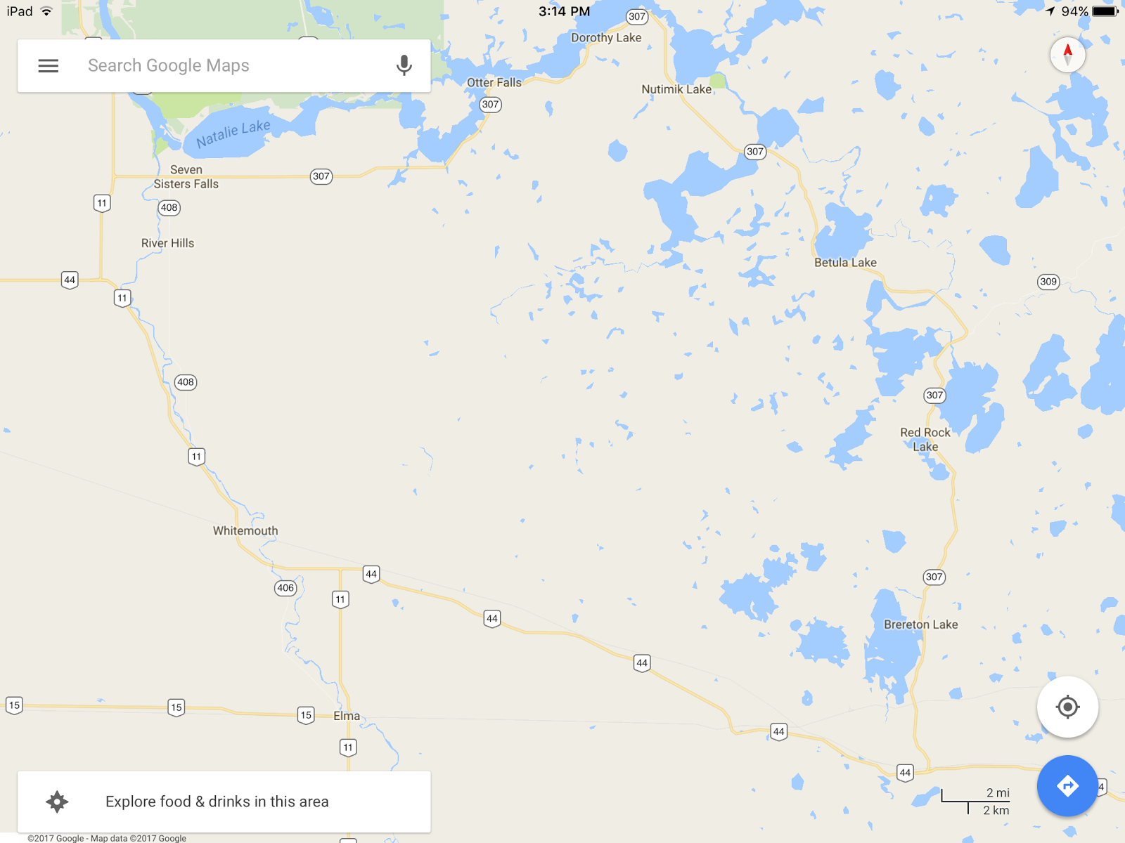 Update Street View Imagery in the Whiteshell Provincial Park