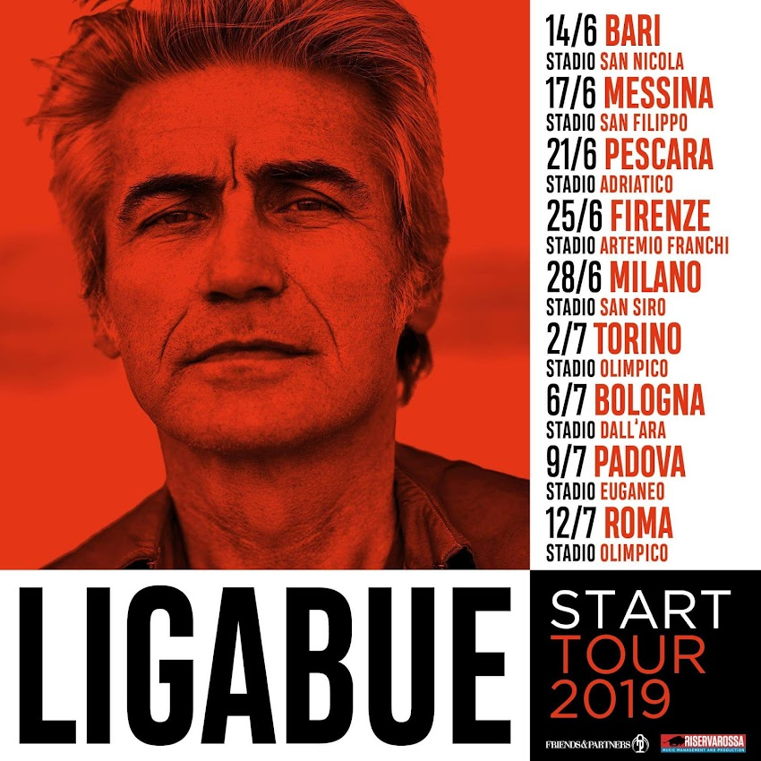 Ligabue Start Tour 2019, fuori ora le date!