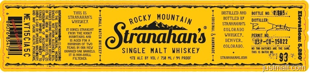 Stranahan's Rocky Mountain Single Malt Whiskey
