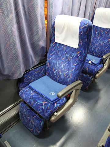 中国JRバス「鹿児島ドリーム広島号」 641-4909 シート