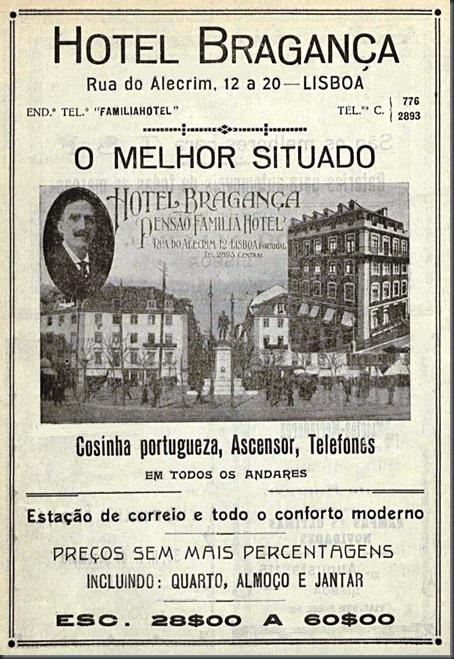 Resultado de imagem para lisboa 1935 hotel bragança rua do alecrim