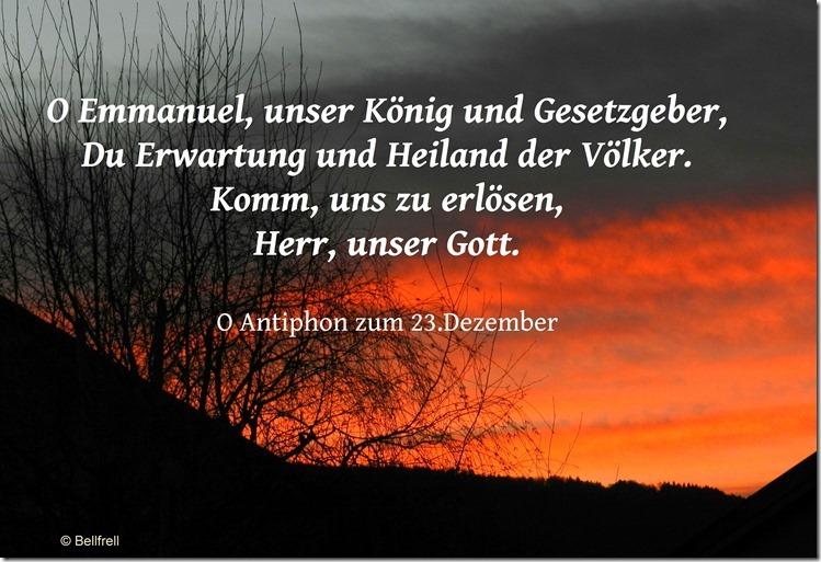 O Antiphon O Emmanuel 23.Dezember