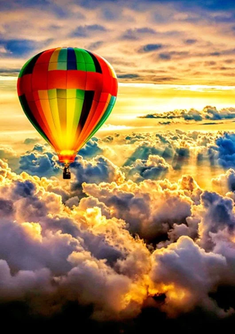 Cloud hot air balloon