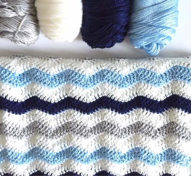 Crochet Ripple Baby Boy Blanket Daisy Farm Crafts
