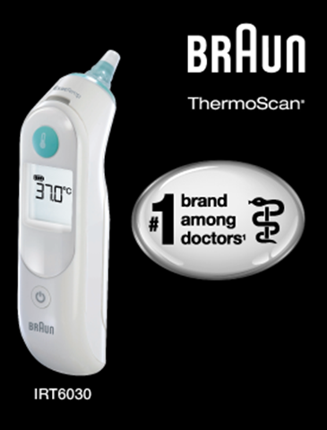 BRAUN THERMOSCAN 5 INFRARED EAR THERMOMETER IRT 6030 - MOMMY'S BFF 3