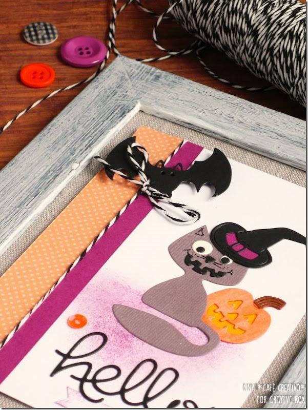Cornice per Halloween con le Fustelle Sizzix @Creative_Rox