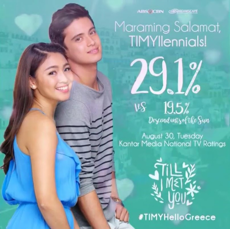 Till I Met You - Aug 30, 2016 national TV rating